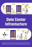 affiche de l'infrastructure du centre de données vecteur