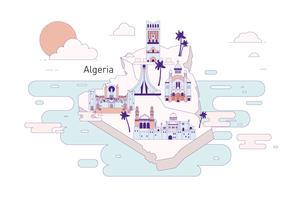 Vecteur de l'Algérie