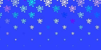 modèle bleu et rose avec des signes de grippe. vecteur