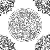 tuile de mandala zentangle. vecteur