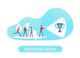 conférencier motivateur de leadership vecteur