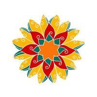 fond de mandala de fleur. vecteur