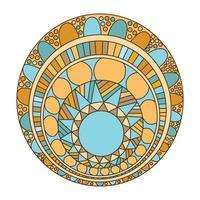 mandala zentangle pour cahier de coloriage