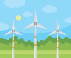 Vecteur de turbine de vent