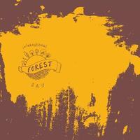 carte de la journée internationale de la forêt. vecteur