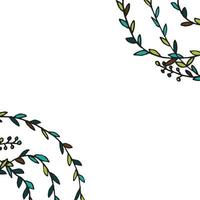 carte avec des feuilles vecteur