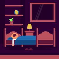 Illustration vectorielle de couchage Bedtime