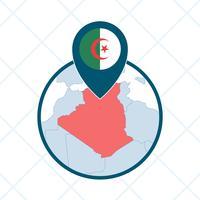 Vecteurs emblématiques de l'Algérie vecteur