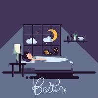 Illustration vectorielle de coucher