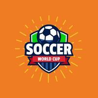 Insigne de logo Coupe du monde de football vecteur