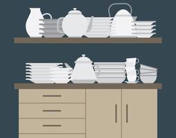 Illustration de vaisselle vecteur