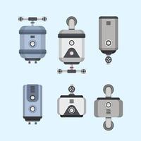 Chauffe-eau Collection Vector Illustration