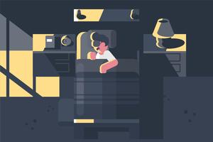 Illustration de l'heure du coucher vecteur