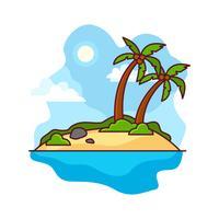 Illustration de l'île du désert vecteur