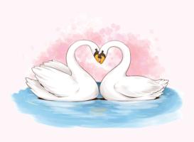 Créatures en amour Illustration vectorielle vecteur