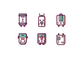 Vecteur de chauffe-eau futuriste