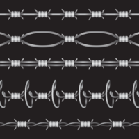 Ensemble de fil de rasoir vecteur