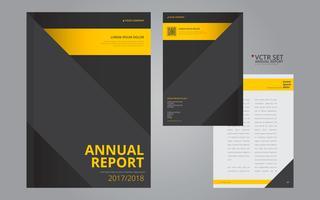 Modèle de conception plate élégant géométrique de rapport annuel vecteur