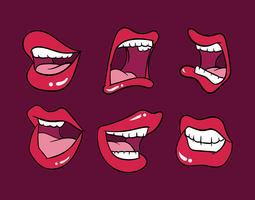 jeu de boca vecteur