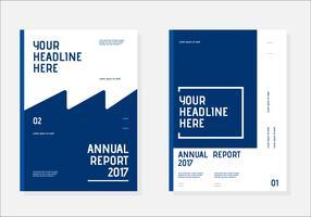 Couverture du livre des rapports annuels vecteur