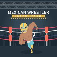 Illustration de lutteur mexicain vecteur
