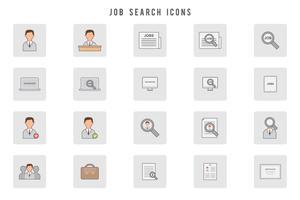 Vecteurs de recherche d'emploi gratuit