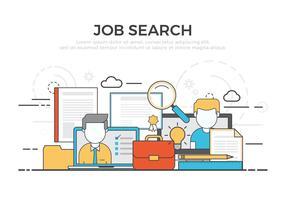 Illustration vectorielle de recherche d'emploi gratuit vecteur