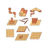 Vecteur gratuit d'icône de toit