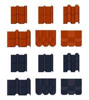 Icônes vectorielles de tuile de toit vecteur