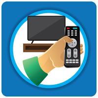 Télévision à distance Illustration vecteur