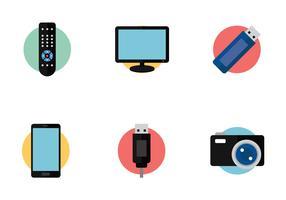 Icône de technologie TV à distance vecteur