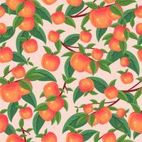 Papier peint motif Peach Tree vecteur