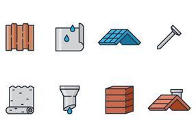Icône de construction de toit vecteur
