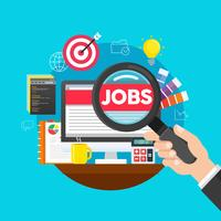 Recherche d'emploi en ligne vecteur