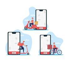 service de livraison en ligne via smartphone