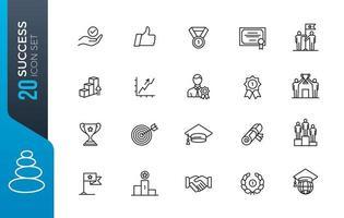 jeu d'icônes de succès minimal