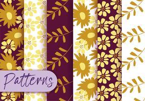 Ensemble de motif de flore automne vecteur