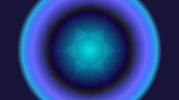 fond abstrait circulaire néon de couleur bleu foncé.