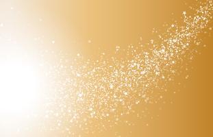 Particules rondes incandescentes de lueur blanche d'or abstraite vecteur