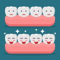 Vecteurs de fausses dents vecteur