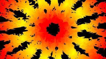 Abstrait kaléidoscope avec effet d'explosion de feu vecteur
