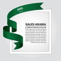 ruban de drapeau de vague abstraite arabie saoudite vecteur