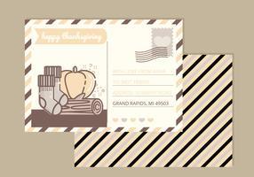 Carte de Thanksgiving de vecteur