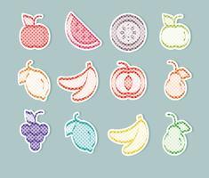 Autocollants de fruits de vecteur
