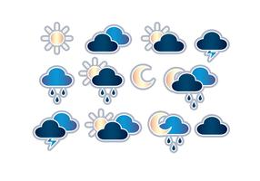 Icônes météo vecteur