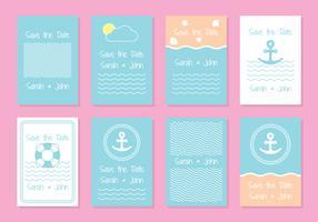 Modèles de cartes d'invitation de mariage nautique