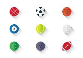 Icône de balle de sport vecteur