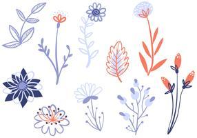 Vecteurs de fleurs délicates gratuites vecteur