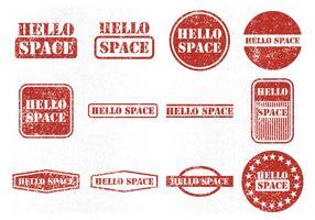 Icônes de vecteur de timbre en caoutchouc