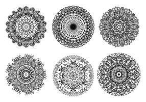 Ornements islamiques Mandala vecteur libre
